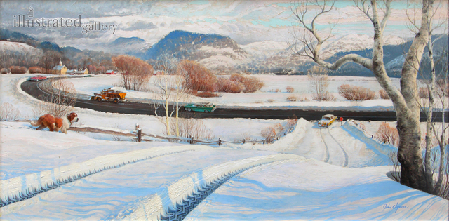 John Clymer, 'Winter in the Country', The Illustrated Gallery