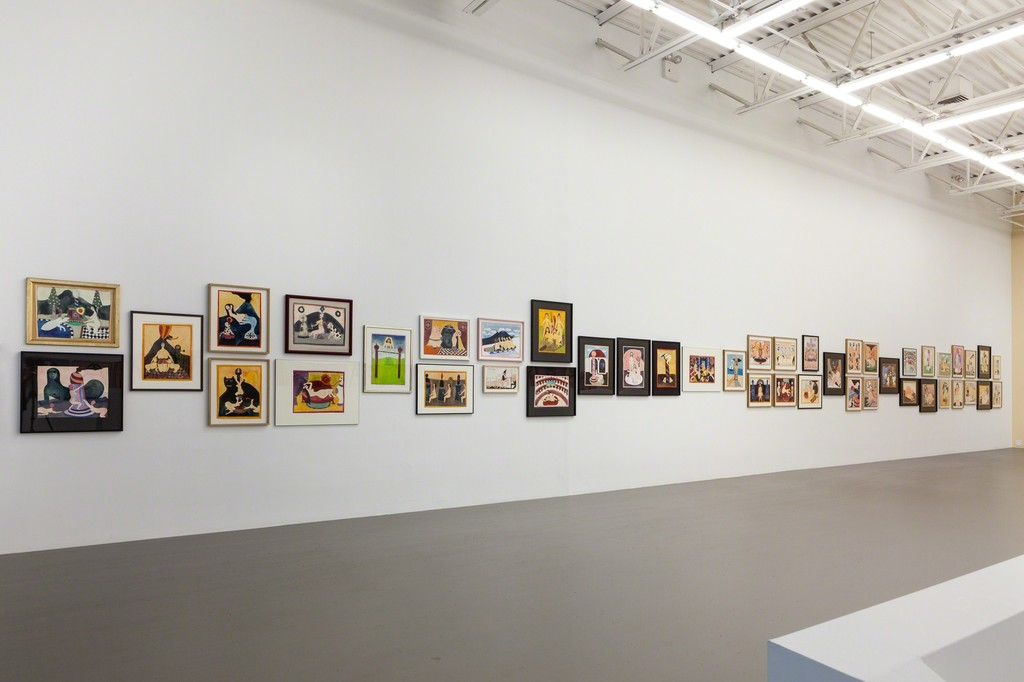 "Hans Schärer: ""Madonnas and Erotic Watercolors,"" installation view."