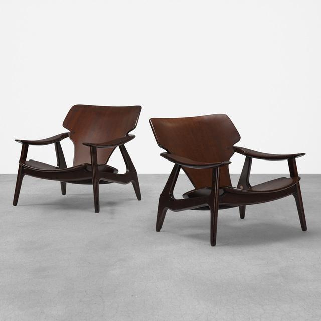 Lin Brasil, 'Diz lounge chairs, pair', 2002, Wright