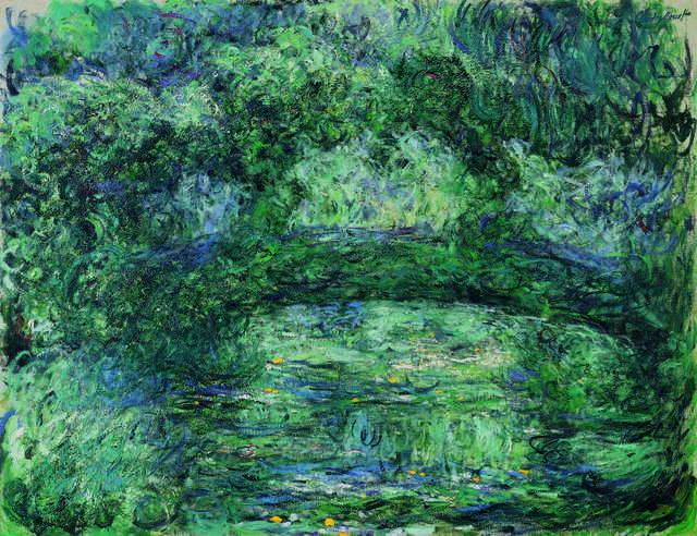 Claude Monet, 'Le pont japonais (The Japanese Bridge),' ca. 1918-24, Fondation Beyeler