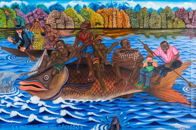 , 'La pirogue d'un grand poisson,' 2011, Africa Bomoko