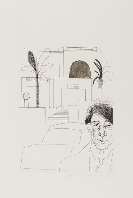 David Hockney, 'Portrait of Cavafy II', 1966-1967, Print, Etching with hard-ground and aquatint, on handmade Crisbrook paper, RAW Editions