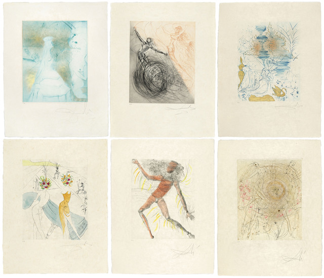Salvador Dalí, 'Hippies', 1969-1970, Print, The complete set of eleven etchings with hand-colouring on Japan paper, Christie's
