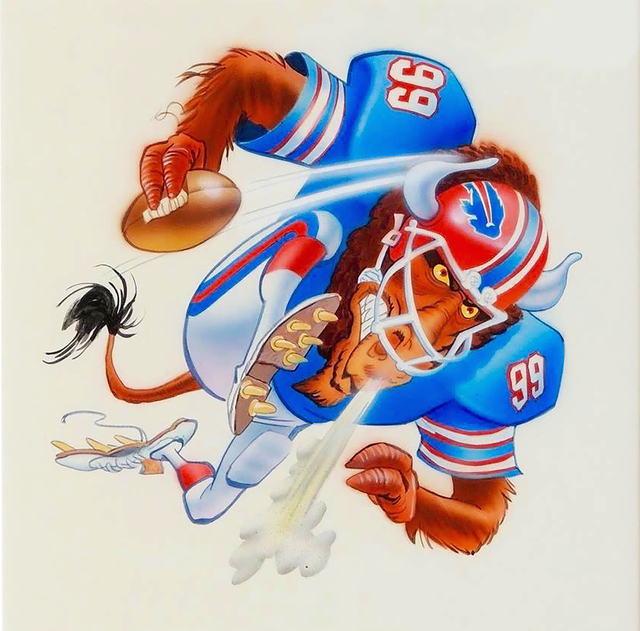 Jack Davis, 'Buffalo Bills Football Illustration', The Illustrated Gallery