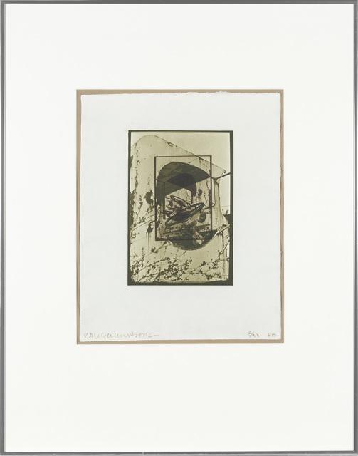 Robert Rauschenberg, 'WHITE PENDULUM (S. 105)', 1980, Print, Color lithograph on handmade Whatman paper, Doyle