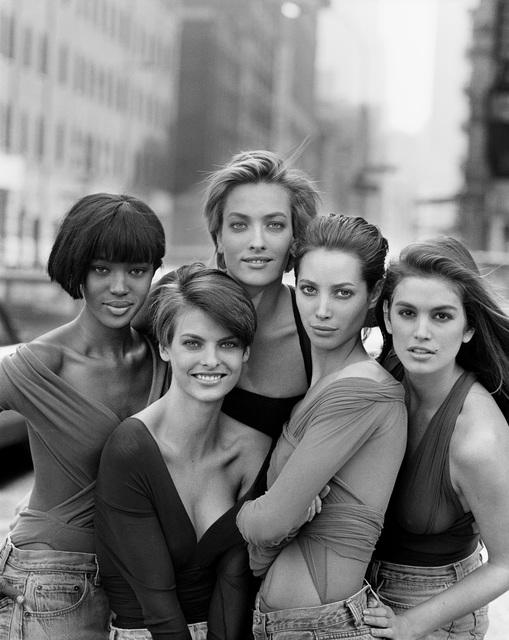 , 'Naomi Campbell, Linda Evangelista, Tatiana Patitz, Christy Turlington, Cindy Crawford, New York,' 1990, Kunsthal Rotterdam