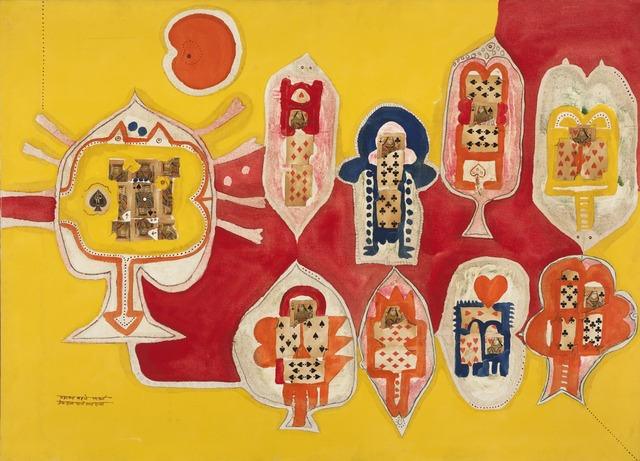 , 'King and Queen of Spades,' 1967, Grey Art Gallery