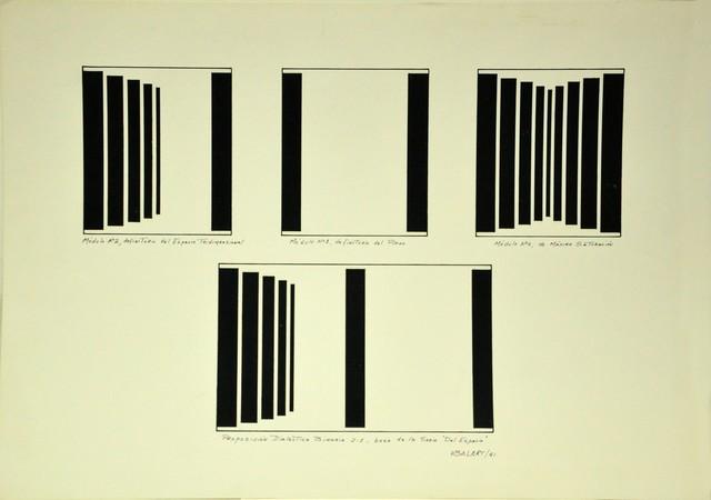 """, 'Proposición dialéctica binaria 2:1, base de la serie """"Del espacio"""",' 1981, Henrique Faria Fine Art"""