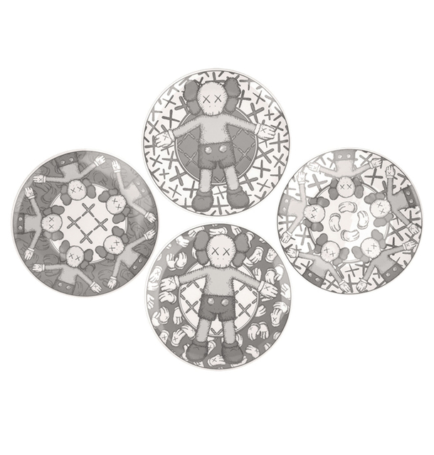 KAWS, 'Ceramic Plate Set (Grey) (Set of 4)', 2019, Curator Style