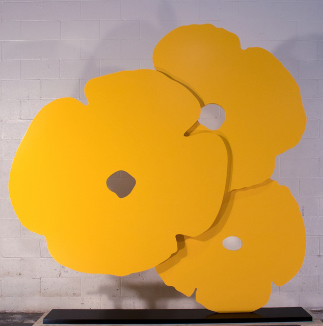 Donald Sultan, 'Big Yellow Poppies', 2015, Sculpture, 3/4 in. thick painted aluminum, ARC Fine Art LLC