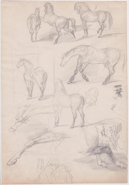 Edgar Degas, 'Studies of Horses and Riders', 1862-1864, Spalding Nix Fine Art