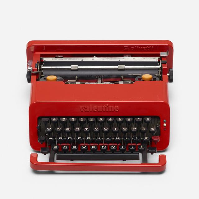 Ettore Sottsass, 'Valentine typewriter', 1969, Design/Decorative Art, Plastic, enameled steel, rubber, Rago/Wright
