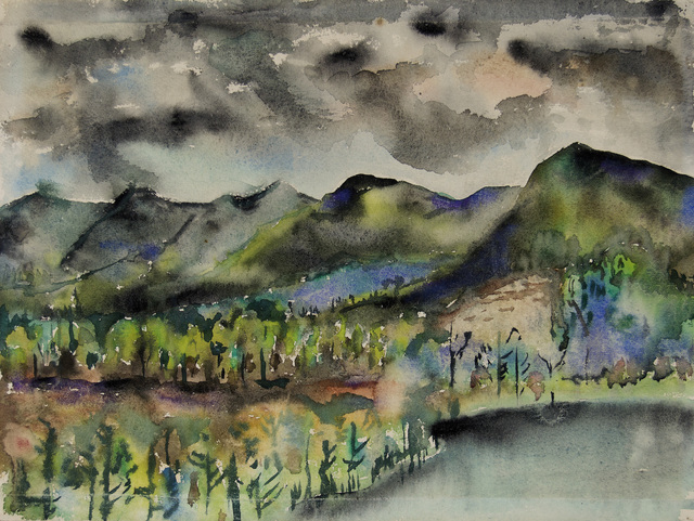 , 'Black Mountain, Lake Eden,' 1954, Hammer Museum