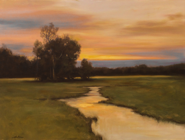 , 'Winding River At Dusk,' , Merritt Gallery