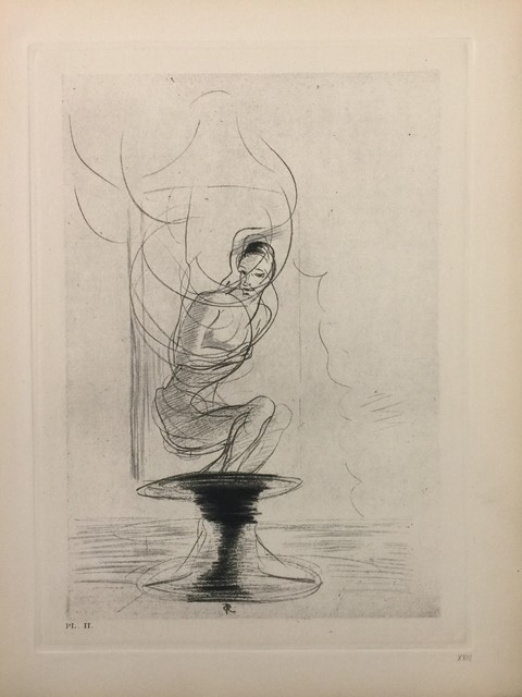 """Odilon Redon, 'Illustration from the series """"Les Fleurs du Mal""""', 1923, Wallector"""
