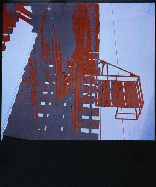 Yasuhiro Ishimoto, 'Untitled (abstraction with red, grey and whote)', 1981-printed 1980s, IBASHO