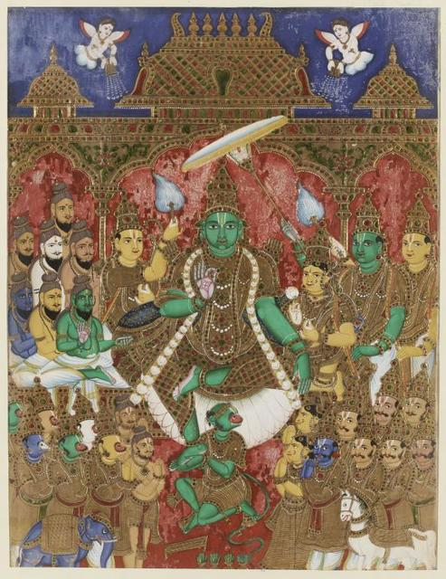 , 'Coronation of Rama, Scenes from Ramayana,' 18th century, Musée national des arts asiatiques - Guimet