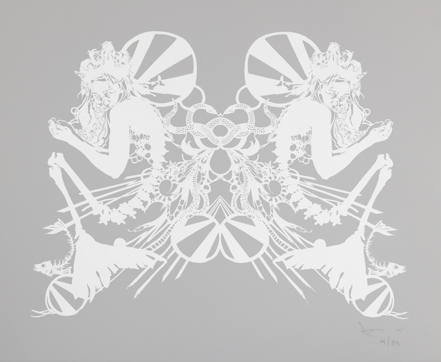 Swoon, 'Miss Rockaway (White on Mylar)', 2007, Chiswick Auctions