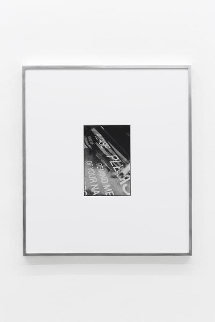 , 'Attenuation Distance,' 2015, Société