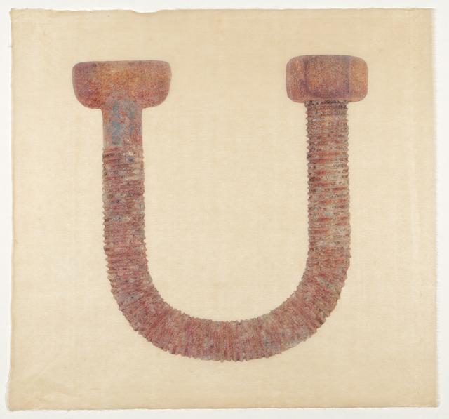 Laine Groeneweg, 'Rusty Horseshoe ', 2020, Print, Silkscreen on Japanese Yame Kozo, CMS Art Projects