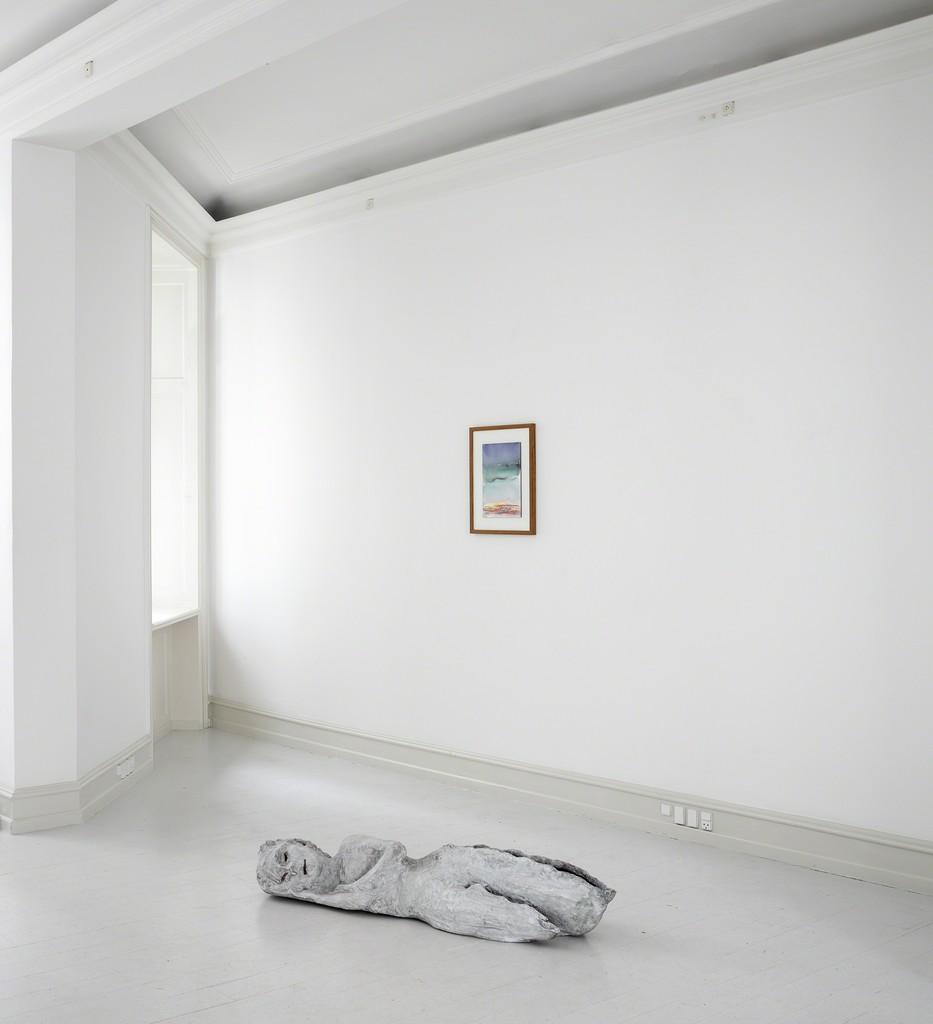 Installation view: Leiko Ikemura, 'Islands Awake', Galerie Mikael Andersen, Copenhagen, 2018. Photo: Jan Søndergaard.
