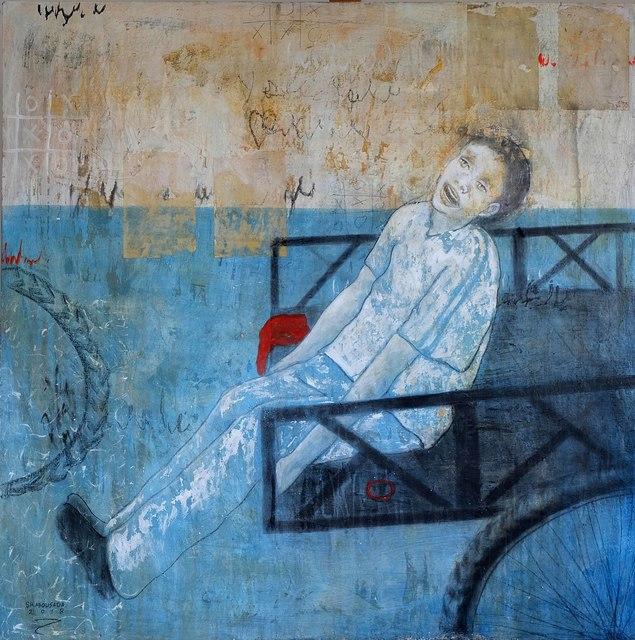 , 'Child and Cart,' 2018, al markhiya gallery