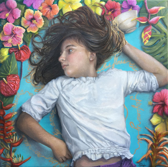 , 'Entre las flores (Among the Flowers),' , Sirona Fine Art