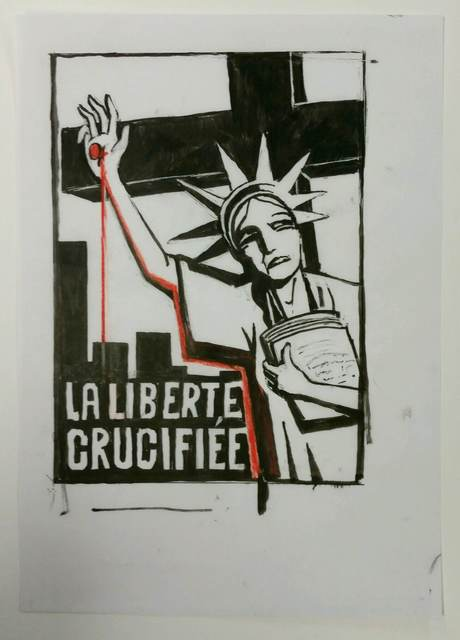 , 'Liberté Crucifiée,' January 9-2015, Drawing Center