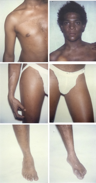 Andy Warhol, 'Jean-Michel Basquiat Six Polaroids', 1983, Photography, Polaroid, Polacolor, Heather James Fine Art