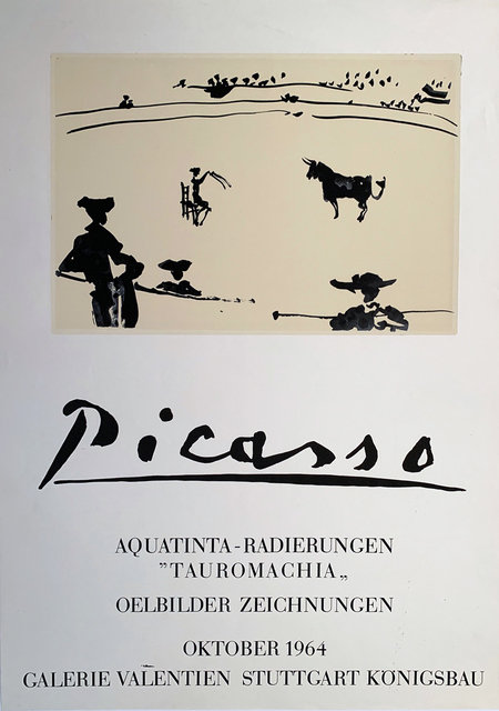 Pablo Picasso, 'Picasso Aquatinta Poster, HOLIDAY SALE $150 OFF THRU MAKE OFFER', 1964, David Lawrence Gallery