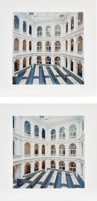 Candida Höfer, 'Universitätsbibliothek Hamburg 2000 (University Library Hamburg 2000), from Double Exposure', 2002, Phillips