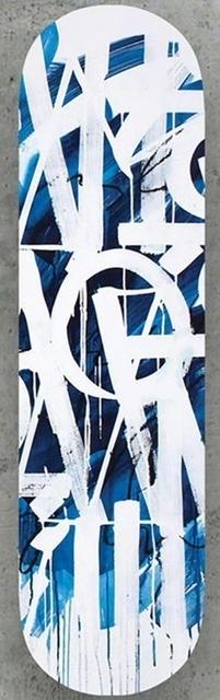 RETNA, 'Original Limited Edition Skateboard Skate deck (Blue) with hand signed COA (blue colored back)', 2018, Alpha 137 Gallery Auction