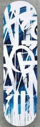 Original Limited Edition Skateboard Skate deck (Blue) with hand signed COA (blue colored back)