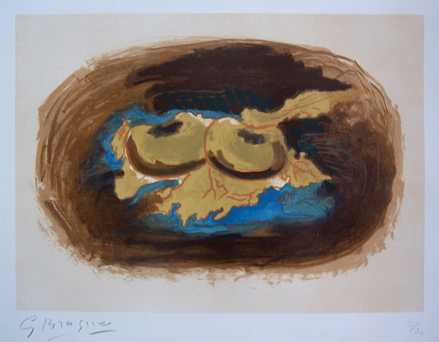 Georges Braque, 'Apples and Leaves / Pommes et Feuilles', 1958, Gilden's Art Gallery