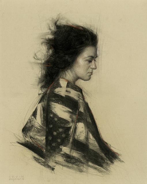 , 'Striped Kimono,' , Sirona Fine Art