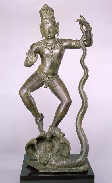 , 'Krishna Dancing on Kaliya (Kaliyahimarddaka Krishna),' late 10th–early 11th century, Asia Society