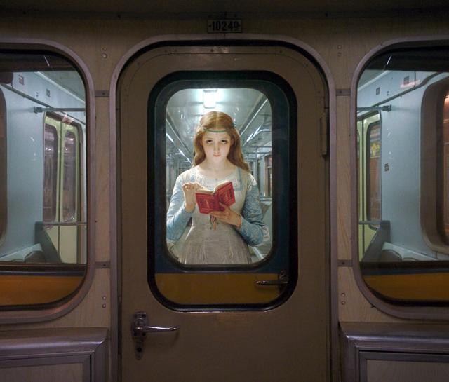 ", 'Pierre-Auguste Cot ""Ophelia"". Kyiv, ""Borispilska"" station. ,' 2017, Port agency"