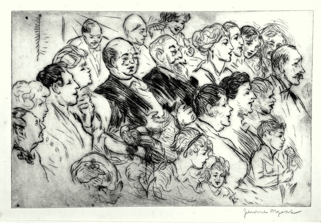 Jerome Myers, 'At the Show', ca. 1920, Harris Schrank Fine Prints