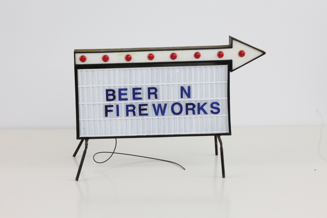 , 'Beer and Fireworks Sign,' 2018, StolenSpace Gallery