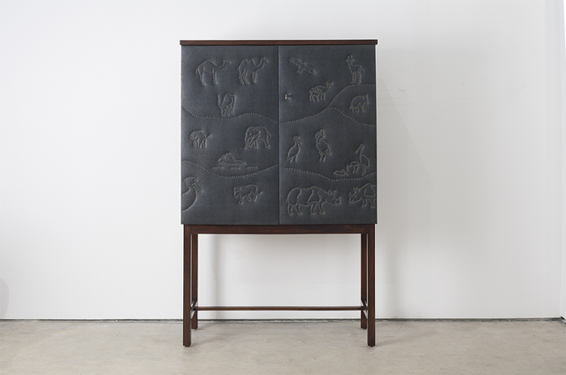 , 'Raised Cabinet with Animal Motifs,' ca. 1940, Hostler Burrows