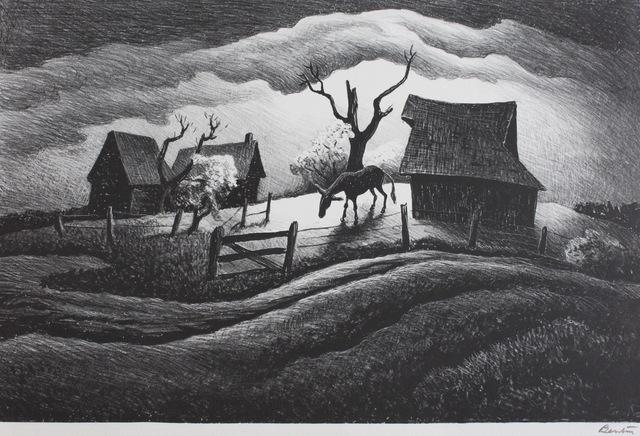 Thomas Hart Benton, 'Rainy Day', 1938, Print, Lithograph, Aaron Galleries