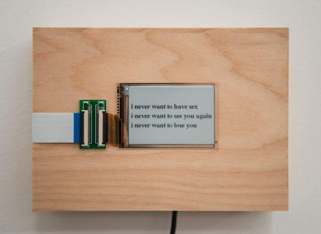 , 'i never want to...,' 2015/2016, Postmasters Gallery