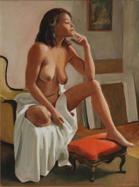, 'Isela Seated (dimensions are with frame),' , Zenith Gallery