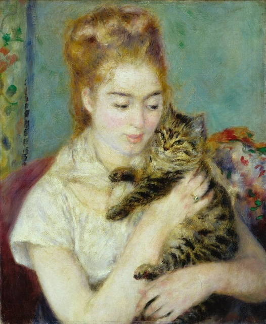 , 'Woman with a Cat,' ca. 1875, Seattle Art Museum