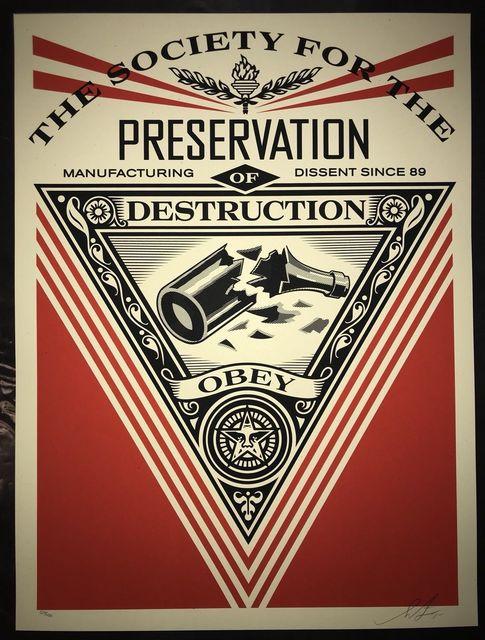 Shepard Fairey, 'Society Of Destruction ', 2015, New Union Gallery