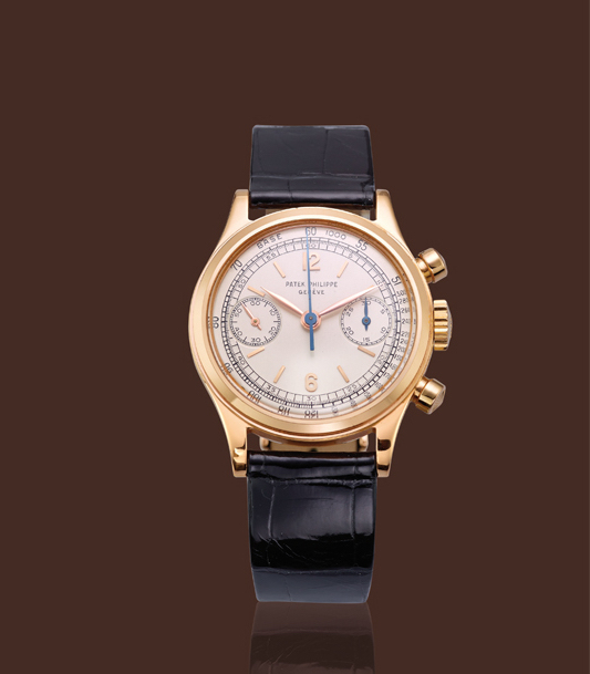 , '18K pink gold, ref. 1463, round pushers chronograph with original certificate,' , Davide Parmegiani Fine Watches