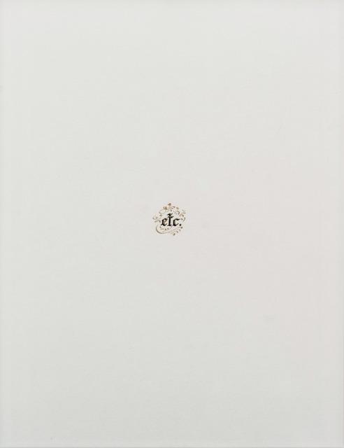 , 'Desenho de calígrafo,' 2011, Galeria Marilia Razuk