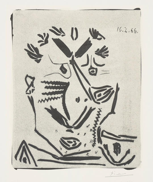 Pablo Picasso, 'Portrait d'homme (Portrait of a Man), from Notre Dame de vie', 1966, Phillips