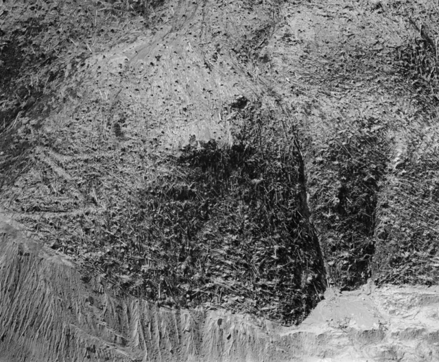 , 'Aerial view: valley wall and floor, North Fork of the Toutle River- approximately 11 miles NW of Mt. St. Helens, Wash.,,' 1982, Etherton Gallery