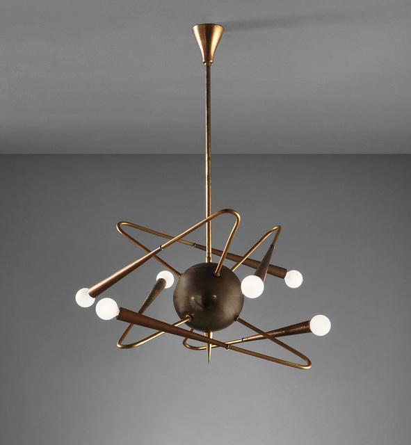 Stilnovo, 'Ceiling light', circa 1950, Phillips